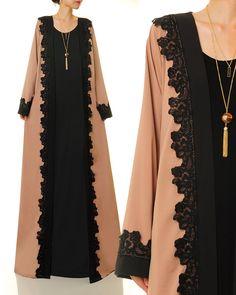 duster with long gown - Yahoo Image Search Results Modest Fashion Hijab, Niqab Fashion, Modesty Fashion, Fashion Dresses, Maxi Cardigan, Moslem Fashion, Modele Hijab, Fairy Clothes, Abaya Designs