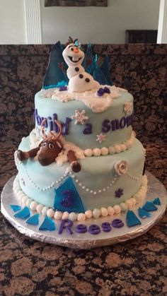Frozen Cake from a Safeway cake Rock candy for bottom border
