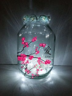 Hand painted Chinese Lantern / candle holder / by melOnDesign