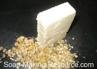 Gentle (baby) soap. Chamomile-infused, olive oil base, 8% superfatted, could be nice with lavender added to the infusion!