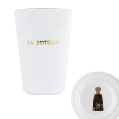 La Estrella - star, El Mundo - world, El Diablito - devil, and La Botella - bottle.  Each character externalizes our cravings for success, ambition, eternal youth, and happiness.  La Botella - bottle Available in gold trim or silver  Machine washable, hand preferred to protect luster Design By Lorena Gaxiola
