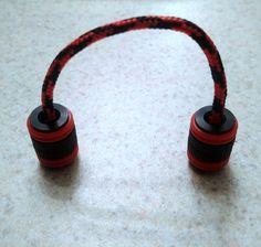 Black Metallic Begleri / Worry Beads with Red Rubber O-rings by TGPBegleri on Etsy