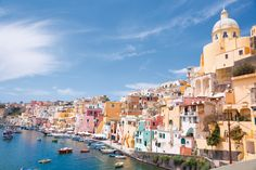 Get information about a range of alluring things to do in Procida Italy as well as tips on where to locate the ferry from Naples to Procida Island. Oh The Places You'll Go, Places To Travel, Travel Destinations, Places To Visit, Travel Tourism, Catamaran, Dream Vacations, Vacation Spots, Travel Around The World