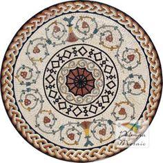 """60"""" Mosaic Floor Medallions - MedallionsPlus.com"""