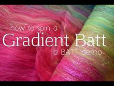 How to Spin a Gradient Batt Rolag Style - YouTube