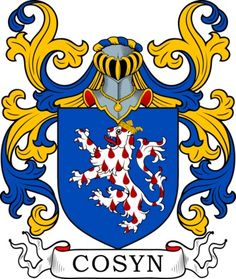 Cosyn Family Crest and Coat of Arms