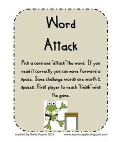 Word Stoppers Word Attack Skills Game | Teacher Created Games ...