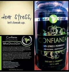 Stressed out? Have anxiety? Overwhelmed? Try It Works Confianza to naturally reduce your stress within a matter of 10-15 minutes! So many people rave about this product! Get yours today! wrapmom421.myitworks.com