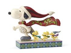 Snoopy, Woodstock and friends share an ice skating adventure. Combining the characters of Charles Schultz's Peanuts and the artistry of Jim Shore.  Figurine Thi