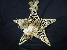 : Handmade Ornaments, Christmas Tree Ornaments, Christmas Decorations, Christmas Paper Crafts, Christmas Projects, Christmas Snowflakes, Christmas Star, Twig Crafts, Diy And Crafts