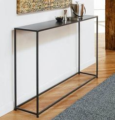Room Design Trends, Modern Console Tables for Interior Decorating Console tables are one of popular room design trends for 2012 that will become more interesting and innovative in the future Wrought Iron Console Table, Console Metal, Modern Console Tables, Foyer Decorating, Interior Decorating, Interior Design, Entryway Decor, Entryway Tables, Narrow Entryway