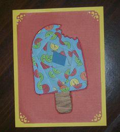 Popsicle Iris-Folded Card by FoldsWithLoveByHolly on Etsy, $4.00