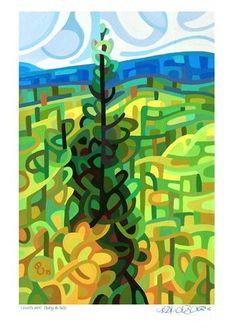 "Daily Paintworks - ""Landscape Study #65"" - Original Fine Art for Sale - © Mandy Budan"