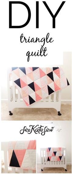DIY Triangle Quilt   See Kate Sew