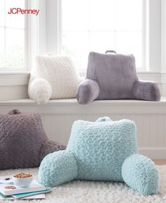 Tap to shop! // This bedrest pillow is a must for a dorm room or game room. Take it wherever you want to relax and chill. This bedrest pillow comes in a super soft fabric and pretty pastel colors. Pick up a few and get that dorm room or game room set up for comfort.