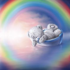 Tatty Teddy Rainbow lake by ShaneMadeArt.deviantart.com