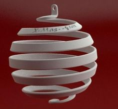 3D printed Christmas ornament by Luigi Vaghi