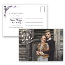 Antique Chic | The perfect save the date notice for a vintage or antique styled wedding! | Invitations by David's Bridal