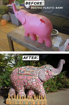 Nelly the Elephant Before & After by IndarNation, via Flickr