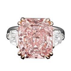 Highly Important Radiant Cut Fancy Pink Diamond - 1stdibs.com