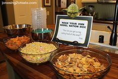 Love this totally original take on Star Wars party food. Build your own Rebel Ration kits from the scene on Dagobah where Luke meets Yoda for the first time. Perfect for a birthday party!