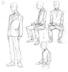 スーツ① 皺|Memo suit jacket vest Suit Drawing, Drawing Base, Manga Drawing, Figure Drawing, Drawing Practice, Drawing Skills, Drawing Techniques, Pose Reference, Drawing Reference