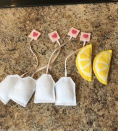 Felt tea set by JustOneMadCrafter on Etsy
