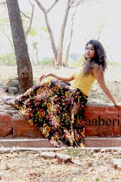 Floral WOMEN'S MAXI SKIRT Floor length Tutu Skirt Tulle by aaberi