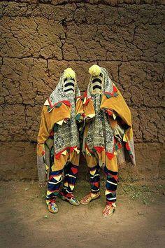 Stylish people of Benin.