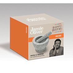 The Jamie Oliver range is designed to perform in the kitchen. Pestle and Mortar is ideal for crushing and grinding herbs and making dressings. Mortar has an attractive polished granite outer and unpolished inner with a matching pestle. Great for making pastes, pesto's and dressings. Tested by Jamie and his team, every product is built to last.