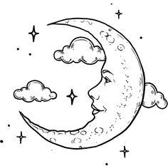 Aisling Tattoo - Semi-Permanent Tattoos by inkbox™ Sun And Moon Drawings, Sun Drawing, Art Drawings Sketches Simple, Easy Drawings, Moon Sketches, Tattoo Bein, Flash Art, Hippie Art, Art Abstrait
