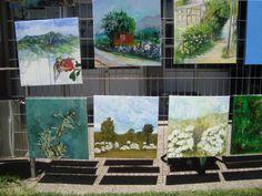 concurso pintura in situ en Aldea del Encuentro, La Reina