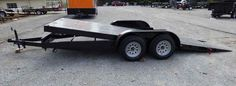 This utility trailer is 18 ft flat bed with a tilt deck floor car hauler with 4 D rings, A-frame construction, and more. Tilt Trailer, Car Hauler Trailer, Trailer Plans, Trailer Build, Custom Trailers, Trailers For Sale, Silverado Single Cab, Hybrid Trucks, Zero Turn Lawn Mowers