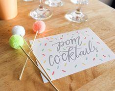 Pom Pom Baby Sprinkle — ariel loves Nursery Reading, Pom Pom Mobile, Pom Pom Baby, Baby Sprinkle, Ariel, Tea Party, Sprinkles, Whimsical, Place Cards