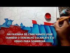 DICA RÁPIDA DE PINTURA EM TECIDO - COMO PINTAR BARRADO FALSO