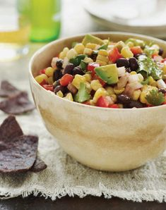 Black Bean and Corn Salad with Chipotle-Honey Vinaigrette - Once Upon a Chef - Kimberly Mitchell Salad Recipes Orzo, Healthy Salads, Healthy Recipes, Yummy Recipes, Healthy Foods, Black Bean Corn Salad, Bean Salad, Corn Salads, Chopped Salads