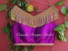 Find Trendy Designer Blouse Ideas and Wide Range of Designer Blouse Sellers 💕 Choli Designs, Sari Blouse Designs, Saree Blouse Patterns, Sleeve Designs, Blouse Styles, Stylish Blouse Design, Blouse Models, Indian Designer Wear, Fashion Design
