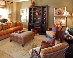 Living Room Kid Friendly Burnt Orange Wall Color Design, Pictures, Remodel, Decor and Ideas