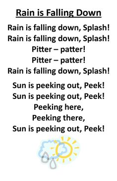 (Did this one without the sun part) This one has been great with little guys and is memorable! After one storytime I learned that my nephew recited this on a car ride the next day.