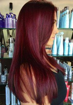 Burgundy Hair Style Trends 43
