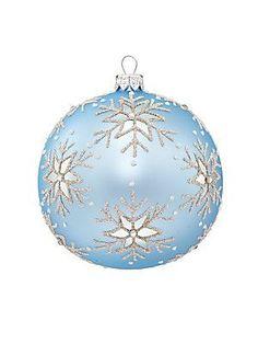 Dagmara Snowflake Embellished Glass Ball Ornament