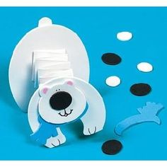 Accordion Fold Polar Bear Craft Kit Image