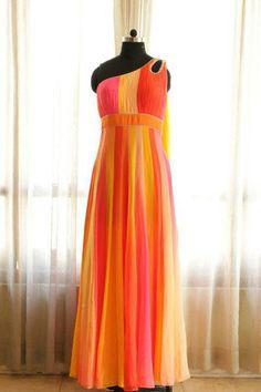 Off shoulder gown