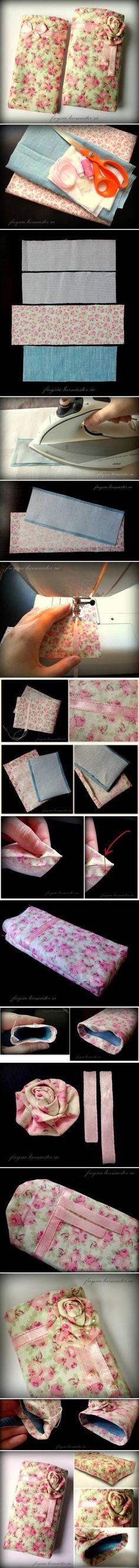 DIY Fabric Phone Case : DIY Pretty Mobile Phone Case