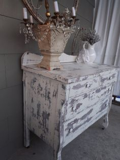 French Country Farmhouse Prairie Style Shabby White by JunqueChic, $500.00