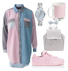"""""""Casual"""" by kyalouise on Polyvore featuring adidas, Christian Dior, Lazy Oaf, Tiffany & Co. and Pantone"""