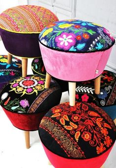 What You'll Love about Suzani Retro Style Scarlet Pouf | My Home Decor Guide #RetroHomeDécor,