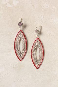 Woven Navette Earrings - Anthropologie.com