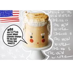 🍊🇺🇸 cake Nr. 3 #100cakesofchallenge. Shining like gold ❄️🌞when you dont give a f@&€ck about the facts. TAG SOMEONE WHO WOULD LOVE TO EAT… Pudding, Facts, Breakfast, Cake, Desserts, Gold, Morning Coffee, Tailgate Desserts, Deserts