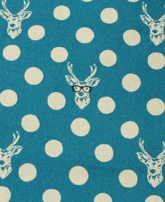 'Herten' door Kokka @Kate Ollett (Kate, this fabric made me think of you :)